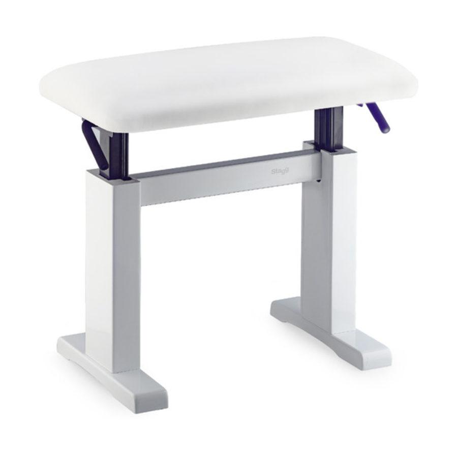 油壓鋼琴椅 合成皮 (白) PBH 780 WHP SWH