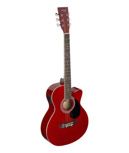 A 系列缺角 電民謠吉他 (紅) SA20ACE RED